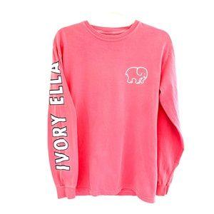 Comfort Colors Ivory & Ella long sleeve pink tee